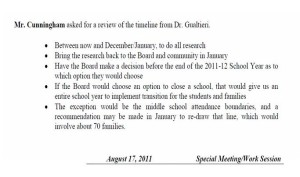 8.17.11 Meeting minutes excerpts